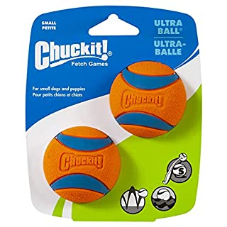 Chuckit Ultra Ball, Durable High Bounce Rubber Dog Ball, Launcher Compatible, 2 Pack, Small (B00280MUVC) | Amazon price tracker / tracking, Amazon price history charts, Amazon price watches, Amazon price drop alerts