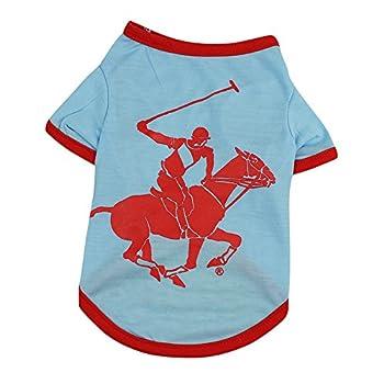 Chiens Textiles et Accessoires,VêTements pour Chien T-Shirt Costume Chiot pour Petit Chien,Chiens Gilets de Sauvetage (L, Bleu Clair)