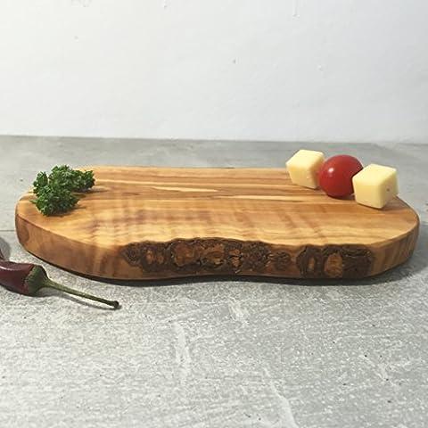 Planche à petit-déjeuner en bois d'olivier/Planche à découper/Planche à fromage, rustique, fabriqué à la