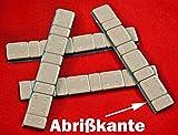 SW-Trade Germany 50 KLEBEGEWICHTE 5g+10g Auswuchtgewichte 3Kg mit Abrißkante Kleberiegel verzinkt + Kunststoffbeschichtet KG061KB