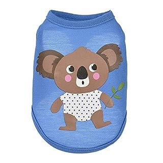 Goldatila Pet Clothes Pet Milk Dog Vest Summer Animals Cartoon Vest Dog Puppy Costumes Pet Clothes