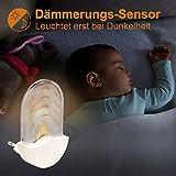 Briloner Leuchten Bernstein LED Nachtlicht für Kinder- & Schlafzimmer