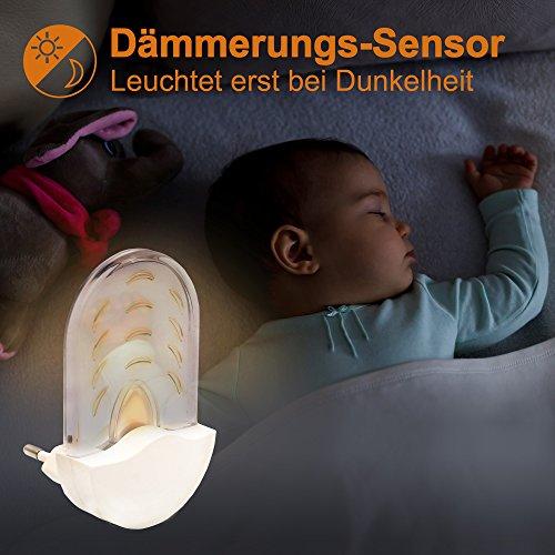 Briloner-Leuchten-Bernstein-LED-Nachtlicht-fr-Kinder-Schlafzimmer-Auto-Dmmerungs-Sensor-Orientierungslicht-Nachtlampe-fr-Steckdose-Hhe-9-cm