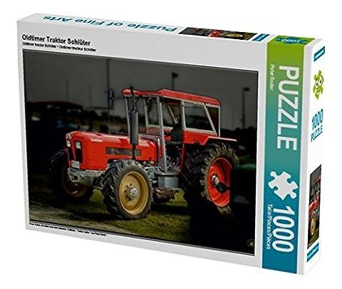 Oldtimer Traktor Schlüter 1000 Teile Puzzle quer (CALVENDO Technologie)