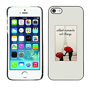 Omega Covers - Snap on Hard Back Case Cover Shell FOR Apple iPhone 5 / 5S - France Umbrella Love Eifel Couple