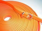 MJH-Schweißleine BioThane 9mm neon orange 10m für Hunde bis ca.12kg