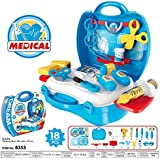 Toykart Little Doctor's Bring Along Medical Clinic Suitcase Set - 18 Pieces , Doctor Play Set Toy, Role Play Toy For Kids