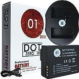 #1: DOT-01 Brand Panasonic FZ1000 Battery and Dual Slot USB Charger for Panasonic FZ1000 Camera and Panasonic FZ1000 Battery and Charger Bundle for Panasonic BLC12 DMW-BLC12