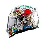 Racing Helm Motorrad Full Face Helm für Männer Frauen Figures XL