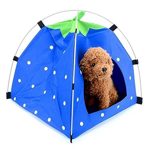 smalllee _ Lucky _ store tragbar Hund Erdbeere Zelte Cute Pet Cat Bett mit Kissen Ideal Für Innen und Außenbereich faltbar Puppy Play House