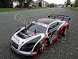 Audi R8Style 4WD Drift Radio Fernbedienung Auto Leistungsstark 280Motor RC Drift Auto Maßstab 1: 10–4kostenfrei Gummi Reifen für GRIP