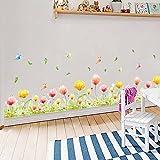 2017 Primavera hierba maceteros de guisantes etiquetas de papel tapiz de pared de vinilo pegatinas de plantas de jardín de niños niñas dormitorio casa vivero decoración bricolaje,pink tulip - STICKERKING115 - amazon.es