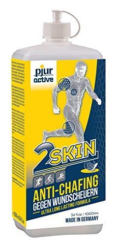 pjuractive 2SKIN - Anti-Chafing-Gel - Nie mehr Blasenpflaster & Wundscheuern - unsichtbarer & wasserfester Hautschutz - 1er Pack (1 x 1000 ml)
