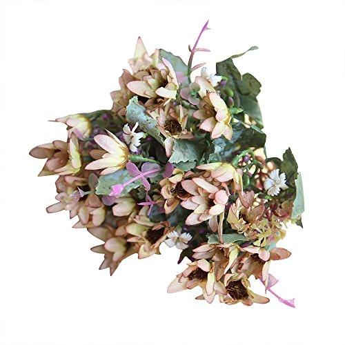 YWLINK KüNstliche Silk GefäLschte Blumen Chrysantheme Hochzeit Blumenstrauß Hydrangea-Dekor Party Warm Speichern Cafe Dekoration KüNstliche Pflanze