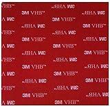 Unbekannt Simply The 1 x graue doppelseitige 3M VHB Acryl quadratisch ~ 100 mm x 100 mm x 0,8 mm Dicke Pad ~ Selbstklebende wetterfeste strapazierfähige Klebefolie ~ Elektronik- und Auto-Klebefolie