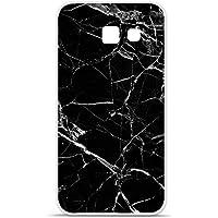 Housse Coque Etui Samsung Galaxy A5 2016 silicone gel Protection arrière - Marbre Noir
