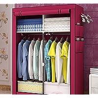 Armario ropa armario guardarropa portable almacenamiento armario organizador de clóset portátil armarios portátiles armario organizador del armario estante armario ropa organizador del almacenaje pie armario-G 170x105x45cm(67x41x18)