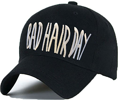 Bonnet Casquette Snapback Baseball ASAP 1994 Hip-Hop en Noir / Blanc avec les ASAP Bad Hair Day
