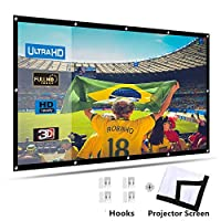 Ozone Projector Screen, 150 inch 16:9 Portable HD Home Theater Projection Screen Foldable Anti-Crease Indoor Outdoor Movie Screen Supports Double Sided Projection, Polyester Fiber