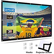 Ozone Projector Screen, 150 inch 16:9 Portable HD Home Theater Projection Screen Foldable Anti-Crease Indoor O