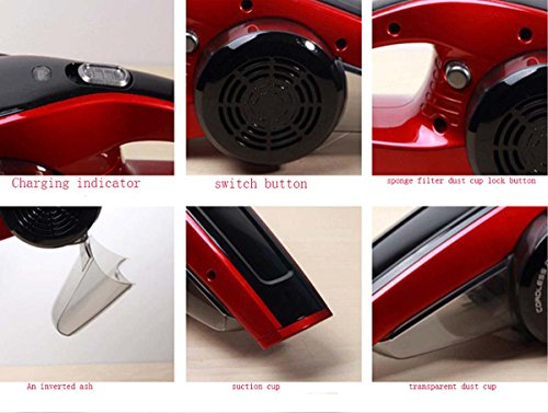 GONGFF Car Wireless Cleaner Household Small Hand-Held Charging Powerful High-Power 12V Portable Vehicle