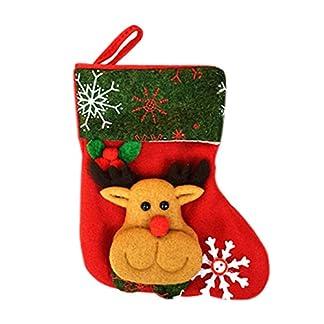 Chakil Calcetín navideño, Bolsa de Regalo para Caramelos, calcetín de Navidad, Bolsa de Regalo de Papá Noel, Bolsa de Regalo para niños, decoración de Navidad, Bolsa de Caramelos 9 x 16 x 12 cm