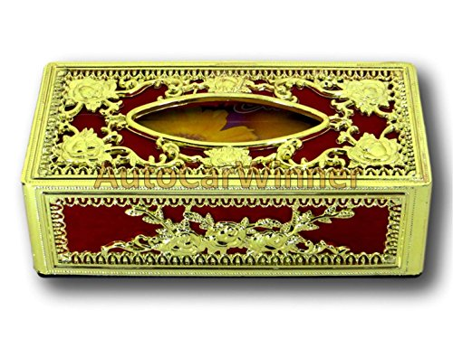 auto car winner golden-red tissue box/dispenser for car,home & office AUTO CAR WINNER Golden-Red Tissue Box/Dispenser for Car,Home & Office 51n3aDcB4jL