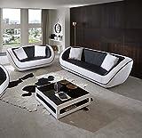 SAM® Design Polstergarnitur Navarra 2tlg., schwarz/weiß, 1 x 3-Sitzer Sofa + 1 x 2-Sitzer Sofa inkl. Kissen, futuristisches Design, angenehmer Sitzkomfort, pflegeleichte Oberfläche