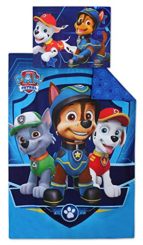 Nickelodeon 710_309 Paw Patrol Wende-Bettwäsche Set 140 x 200cm -