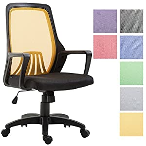 51n3bGjoYDL. SS300  - CLP-Silla-de-Oficina-CLEVER-Silla-de-Escritorio-Ergonmica-con-Tapizado-de-Red-y-Soporte-de-Plstico-con-Ruedas-Deslizantes-Silla-giratoria-Ajustable-en-Altura-con-Mecanismo-de-Balanceo-Color-negroamari
