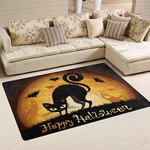n Angst Katze Bereich Teppich Teppich rutschfeste Fußmatte Fußmatten für Wohnzimmer Schlafzimmer 152,4x 99,1cm, Textil, multi, 60 x 39 inch ()