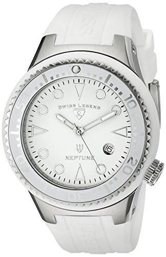 Swiss Legend 21848D-02-WHT - Reloj de cuarzo para hombre, con correa de goma, color blanco