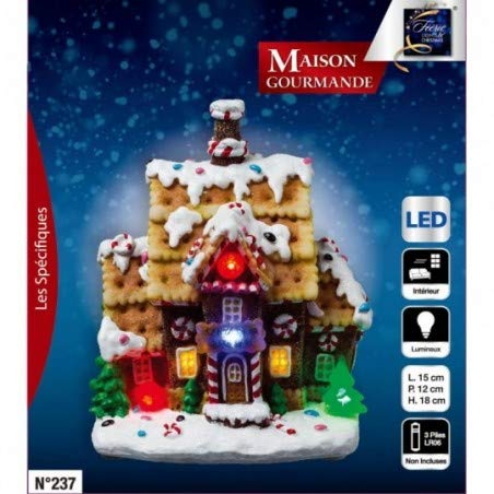 Maison gourmande et Lumineuse de Noël LED modèle Santa