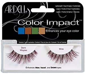 Ardell Color Impact Fake Eyelashes, Demi Wispies Wine by Ardell