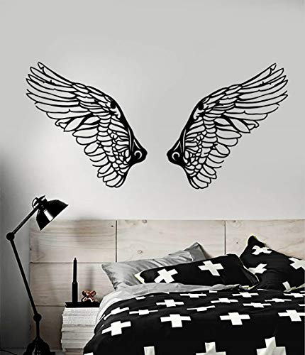 Christian Angel Wings Religion Christentum Religiöse wohnzimmer schlafzimmer wohnkultur Wandaufkleber 117x57 cm ()