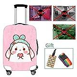 Luggage cover Housse de Valise Lavable Protecteur épais en Polyester élastique en...