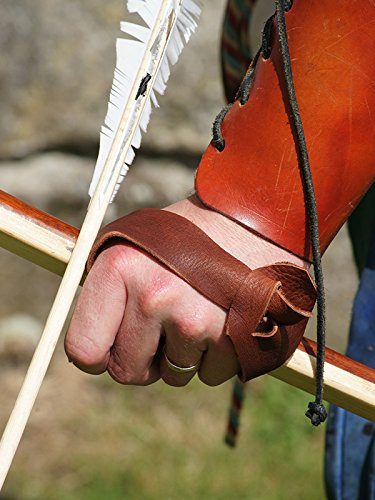 medieval-larp-sca-re-enactment-larp-tudor-archer-longbow-leather-bow-hand-protector-hand-guard