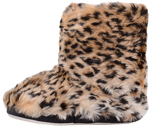 Childrens/Kids/Girls Slip On Boots/Booties/Slippers with Animal Print Design