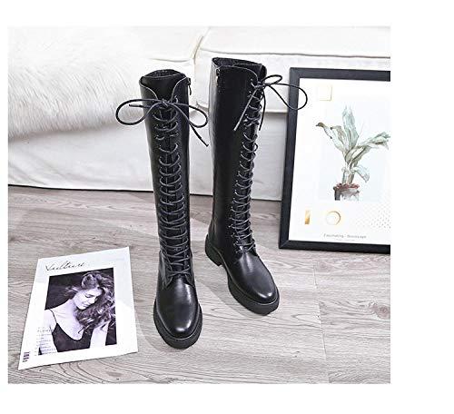 Damenschuhe Herbst und Winter Kniehohe Winter Pelz Stiefel Über Das Knie Frauen Boot Weiche Leder Zipper Frauen Stiefel Oberschenkel Hohe Winter Warme Erhöhen innerhalb Schuhe Plus Einlegesohle -