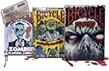 Lot 4 Bicycle Playing Cards Zombified, Everyday Zombies, Zombie Deck, and Pocket Calculator by Bicycle