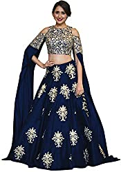 Fabron Navy Blue Embroidered Lehenga Choli