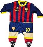 Strampelanzug für Babys mit Motto Lionel Messi, offizielle FC-Barcelona-Kollektion 3 Monate blau