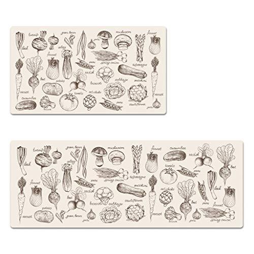 FEI Alfombrillas de Cocina de alfombras esteras/Antideslizantes Alfombrillas Impermeables,80 * 45 cm...