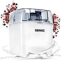 Duronic IM540 Máquina Helado Sorbete y Yogur Helado Bajo Consumo Heladera 1,5 L prepara Helados en 15-30 Minutos Incluye Recetas