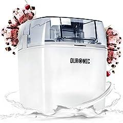 Idea Regalo - Duronic IM540 Macchina per gelati 1.5 L gelatiera ad accumulo 7.3-9.5 Wper sorbetti Frozen yogurt gelato artigianale fatto in casa
