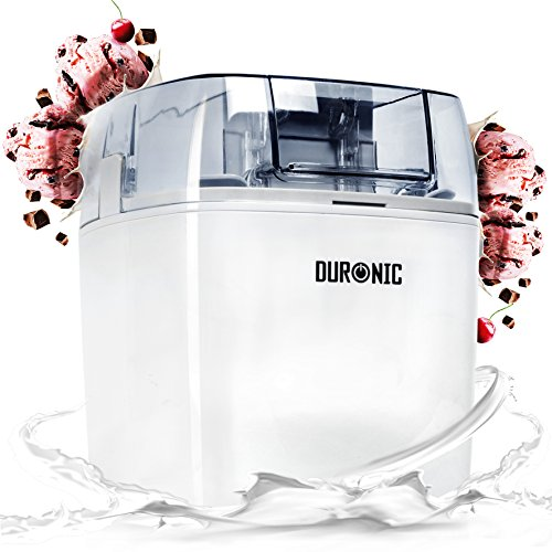 Duronic Ice Cream Maker IM540 Sorbet and Frozen Yoghurt Maker 1.5 Litre - Ice Cream Machine White