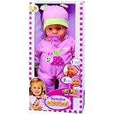 Dimian - Bambolina Capricci, muñeca bebé, color rosa y blanco (Claudio Reig BD1307)