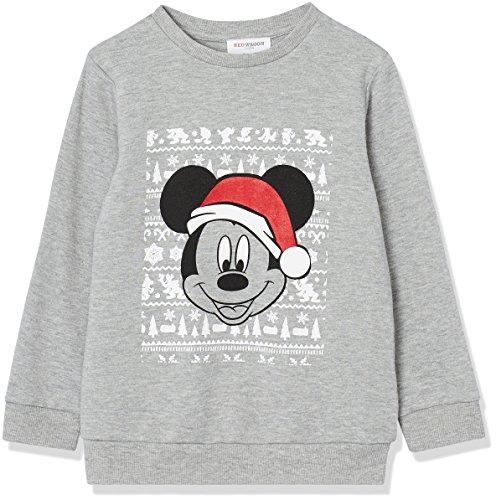Fashion Red 12 (RED WAGON Jungen Pullover Mickey Mouse, Grau (Grey Marl 001), 152 (Herstellergröße: 12 Jahre))