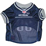 Mirage Pet Products NFL New England Patriots Jersey, Large