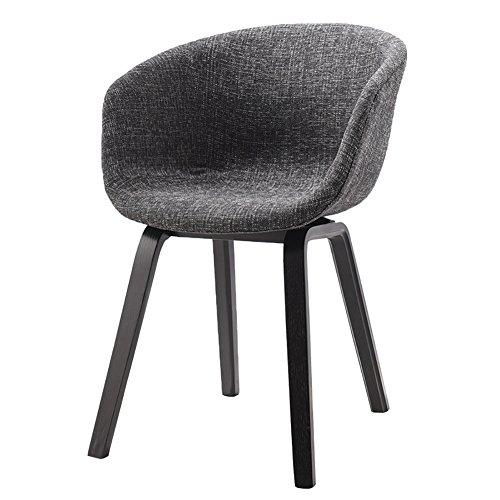 YYHSND Nordic Style Stuhl Lounge Stühle Diskussion Stuhl Kreative Holz Schreibtisch Stühle Barhocker (Color : Black, Size : H75cm) - Open-style Schreibtisch